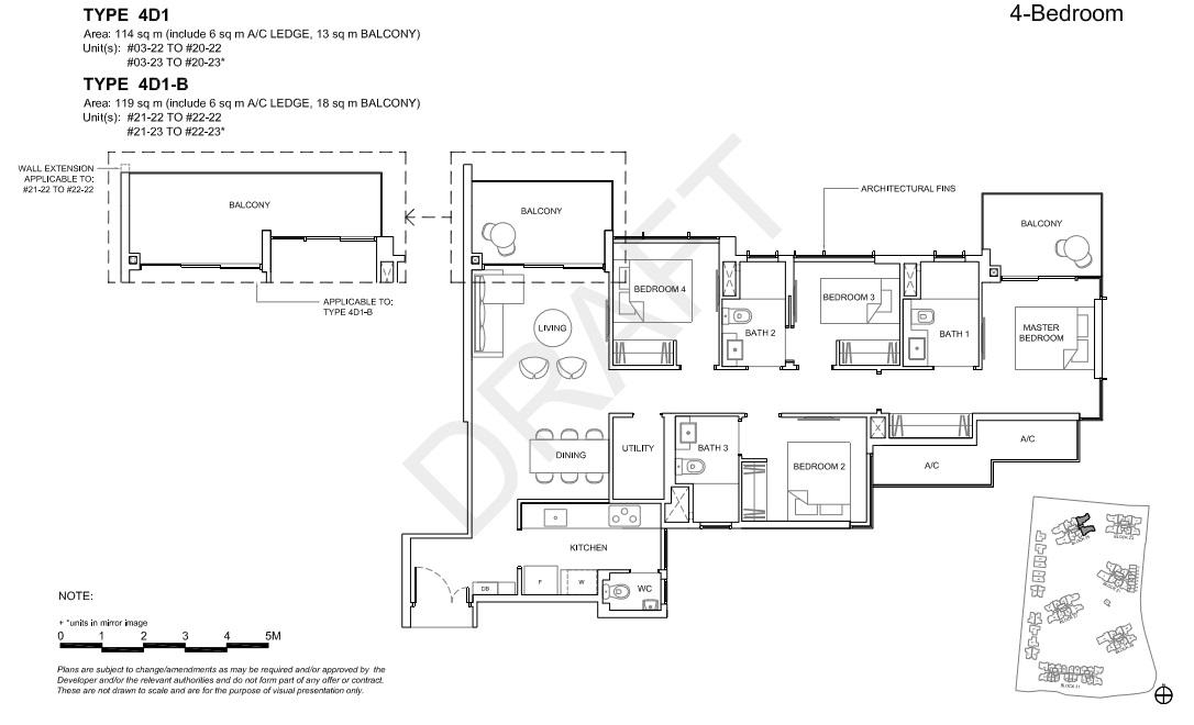 Floorplan 4Br Deluxe, Type 4D1  (Showroom unit)