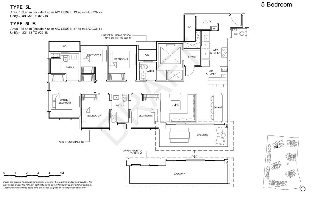 Floorplan 5Br Deluxe, Type 5L  (Showroom unit)