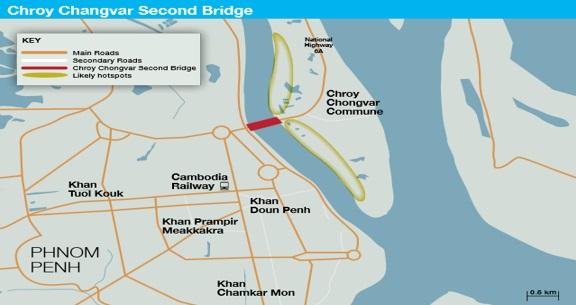 Cambodia Chroy Changvar Second Bridge