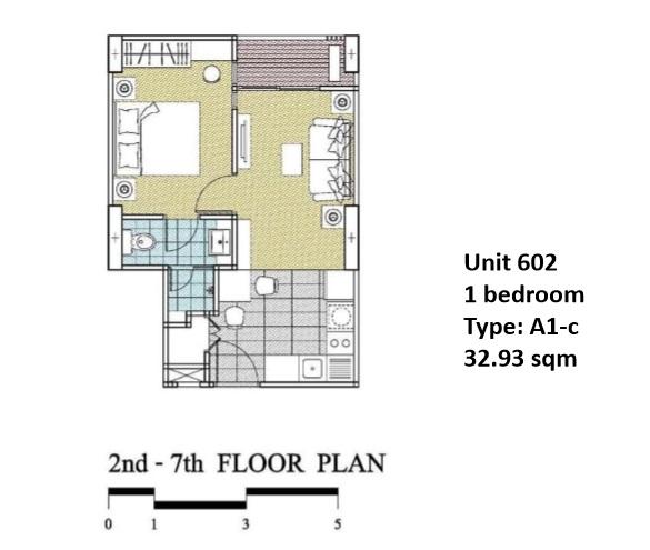 Floorplan Type A1C - 1 bed