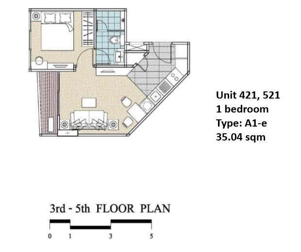 Floorplan Type A1E - 1 bed