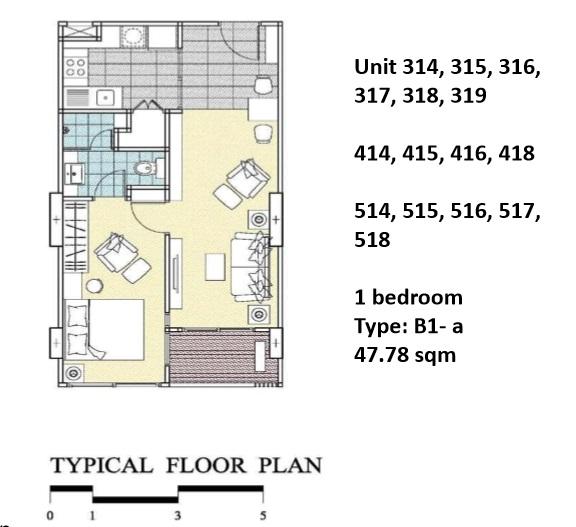 Floorplan Type B1A - 1 bed