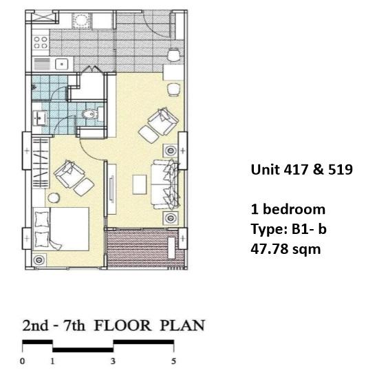 Floorplan Type B1B - 1 bed