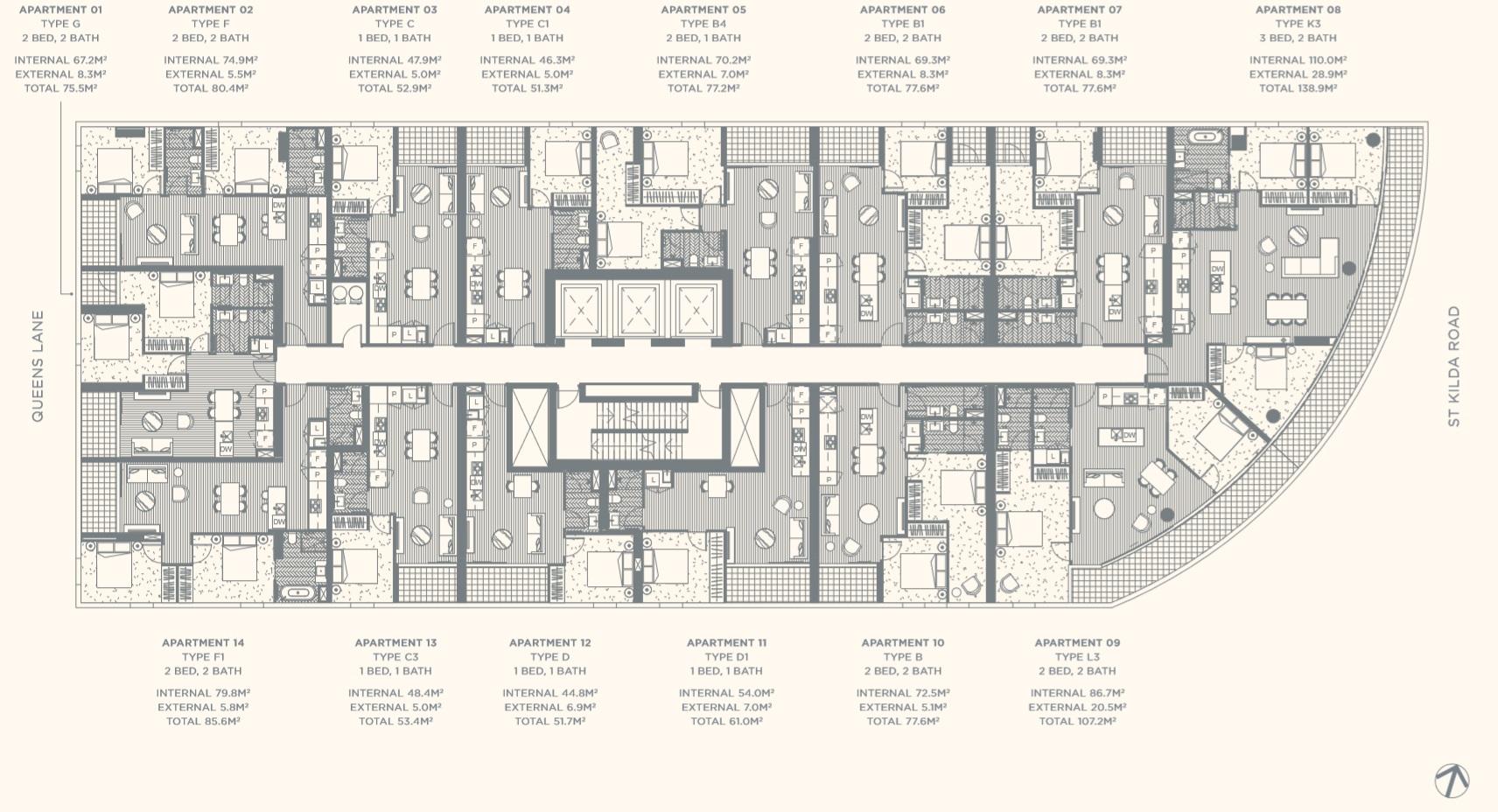 Floor Plate Level 13-15
