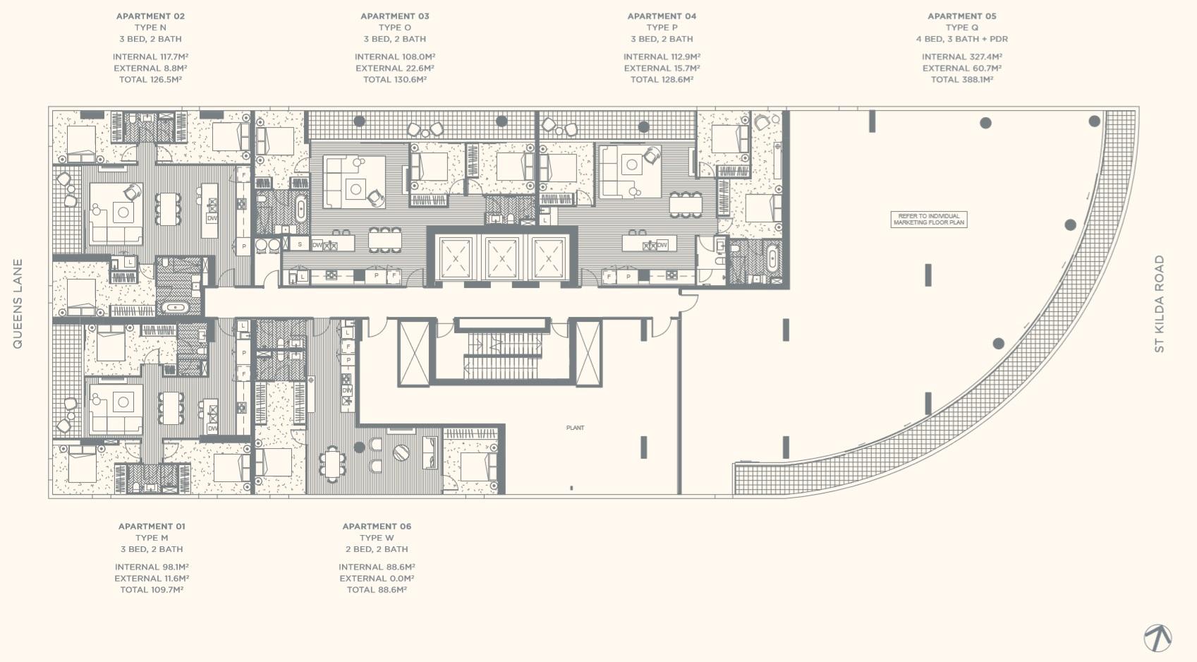 Floor Plate Level 18
