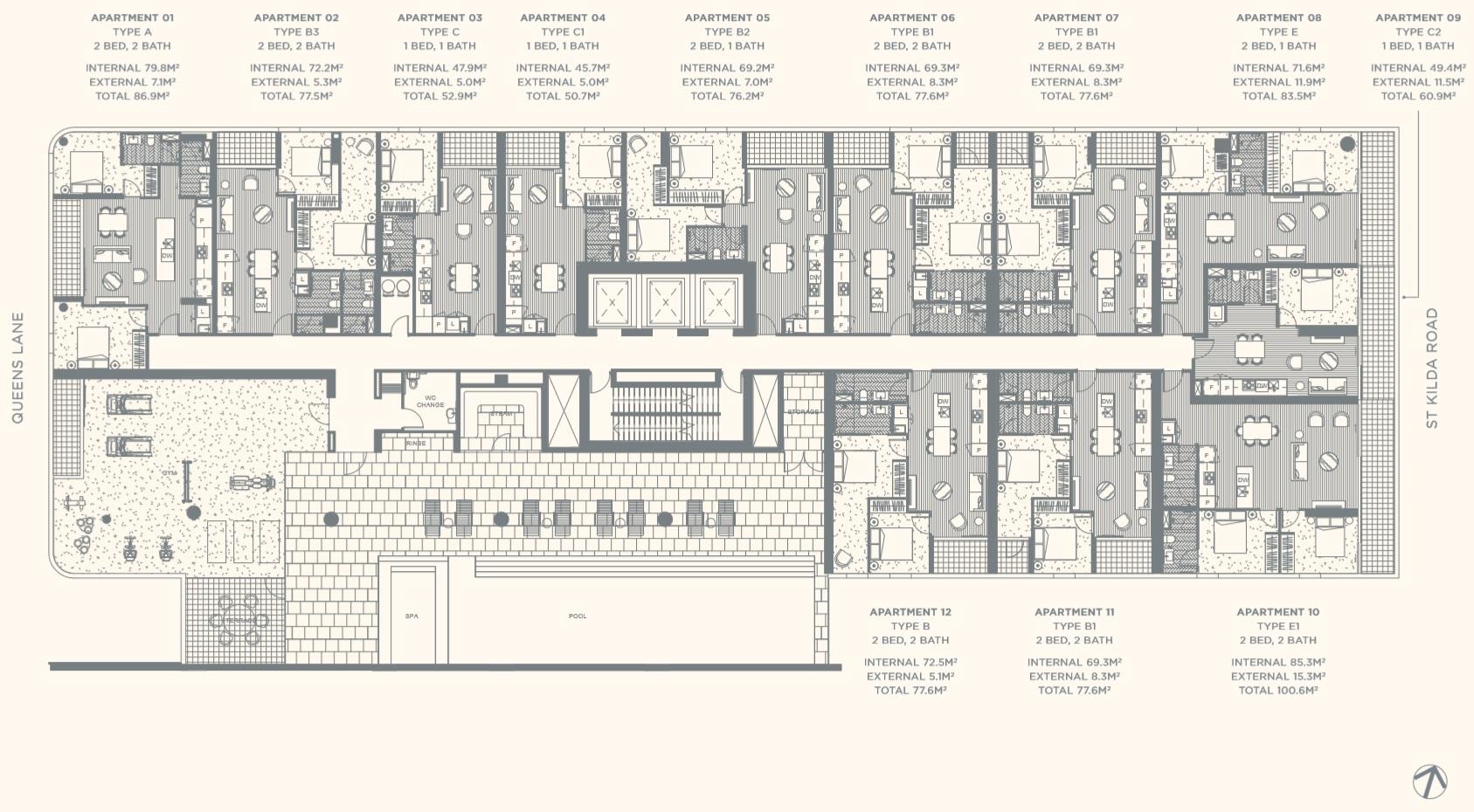 Floor Plate Level 01