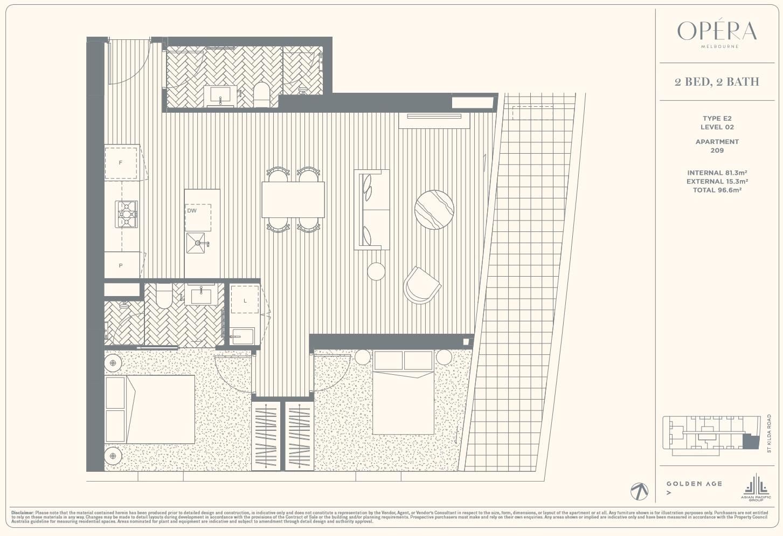 Floor Plan Type E2 - 2Bed2Bath