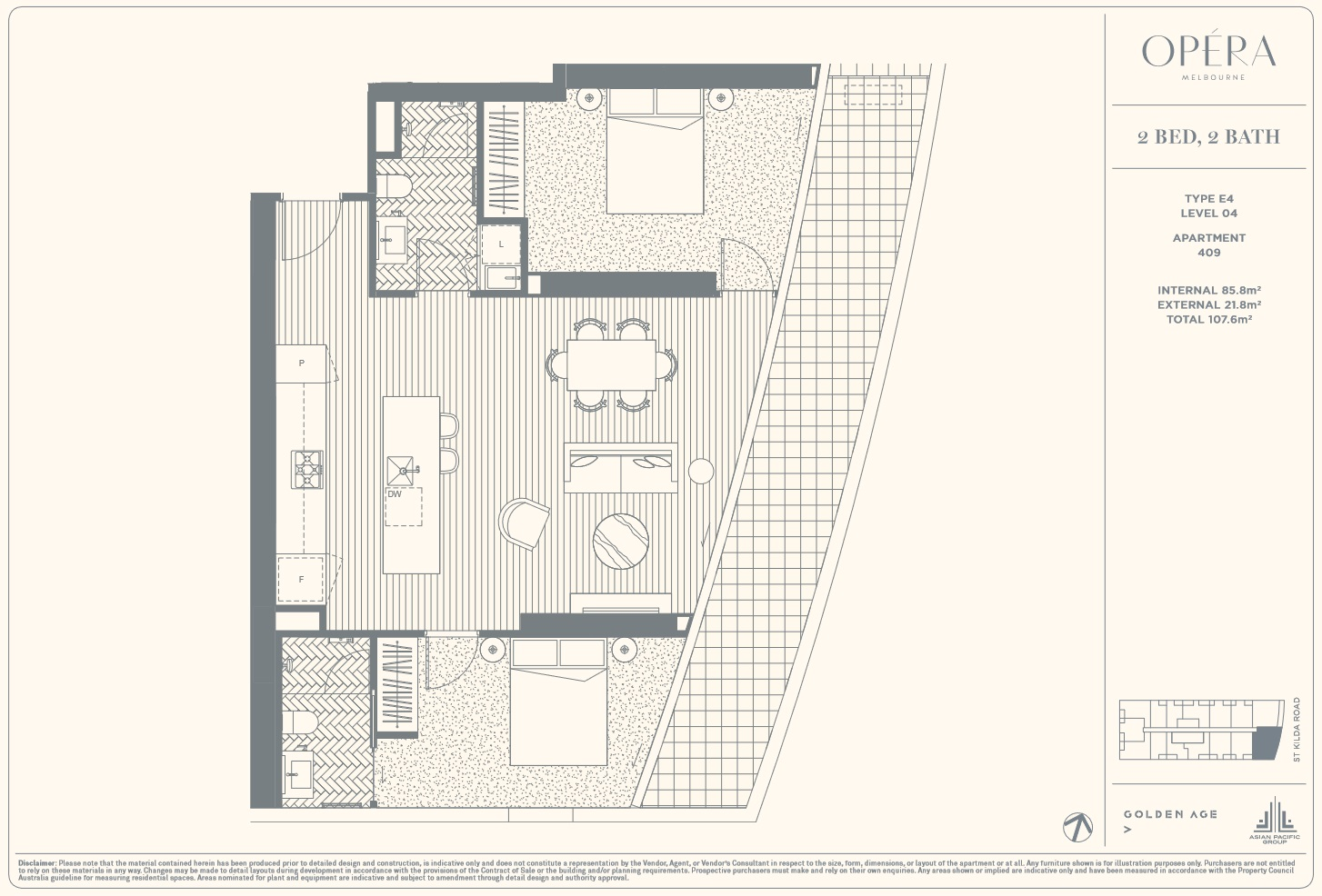 Floor Plan Type E4 - 2Bed2Bath