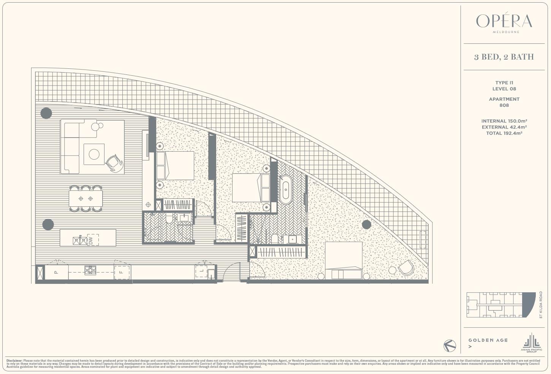 Floor Plan Type I1 - 3Bed2Bath