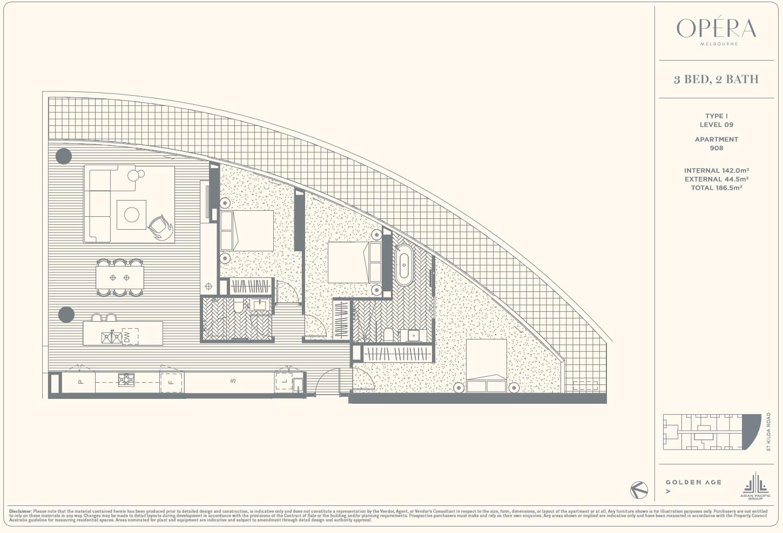 Floor Plan Type I - 3Bed2Bath