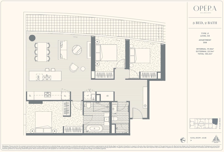 Floor Plan Type J1 - 3Bed2Bath