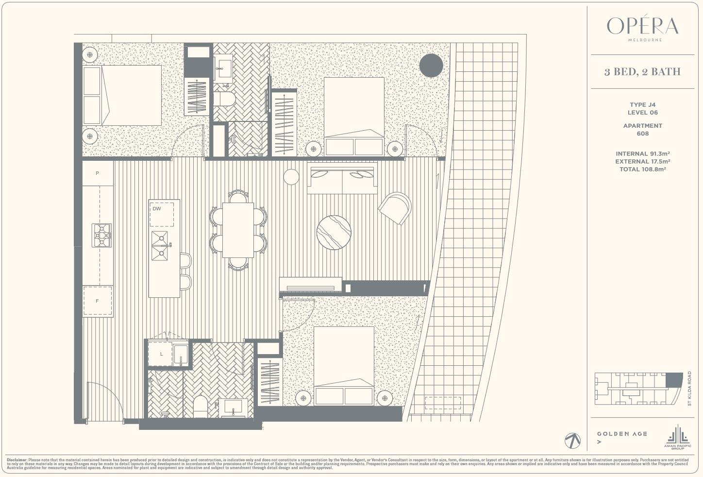Floor Plan Type J4 - 3Bed2Bath