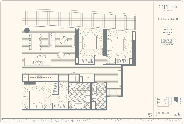 Floor Plan Type J - 3Bed2Bath