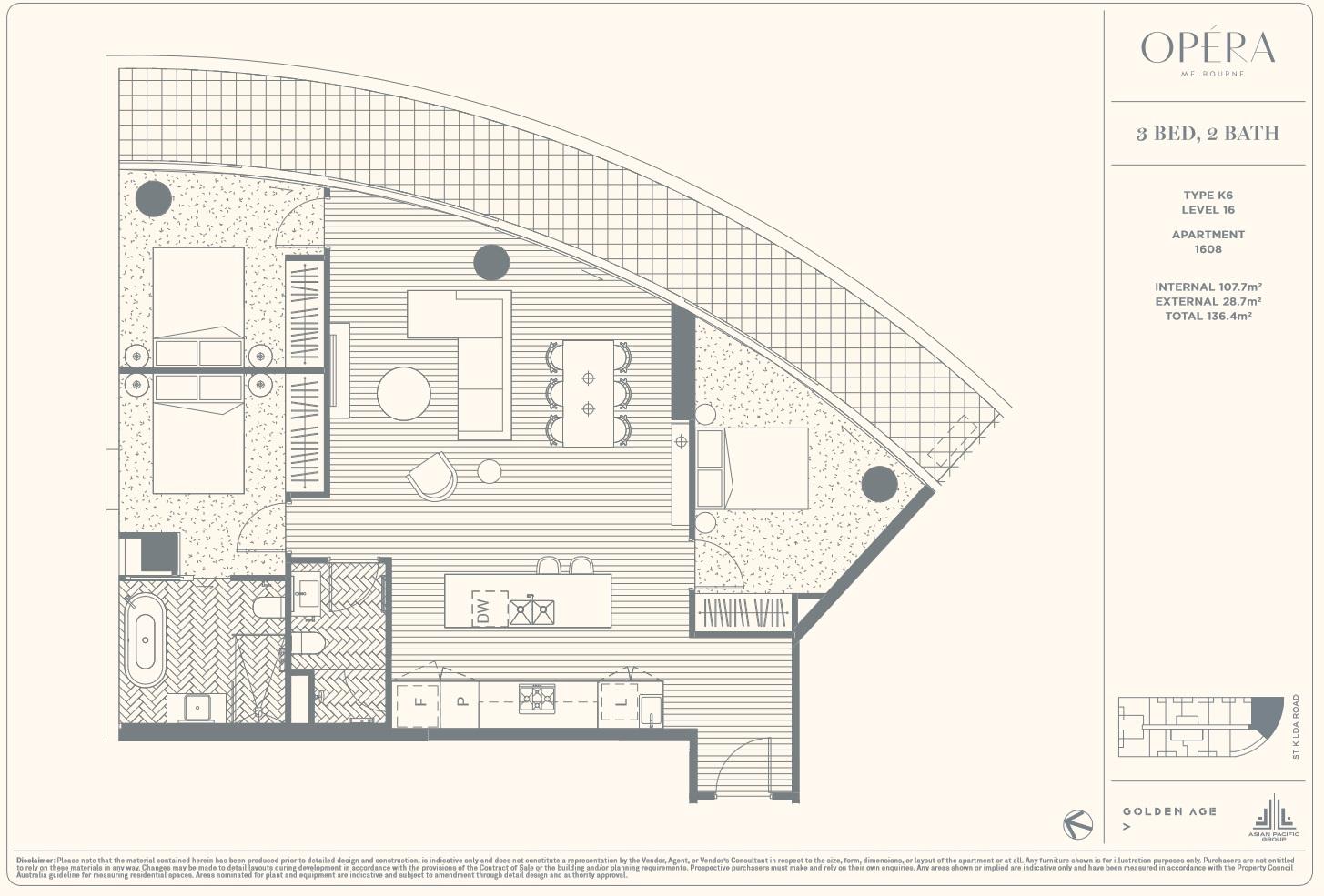 Floor Plan Type K6 - 3Bed2Bath