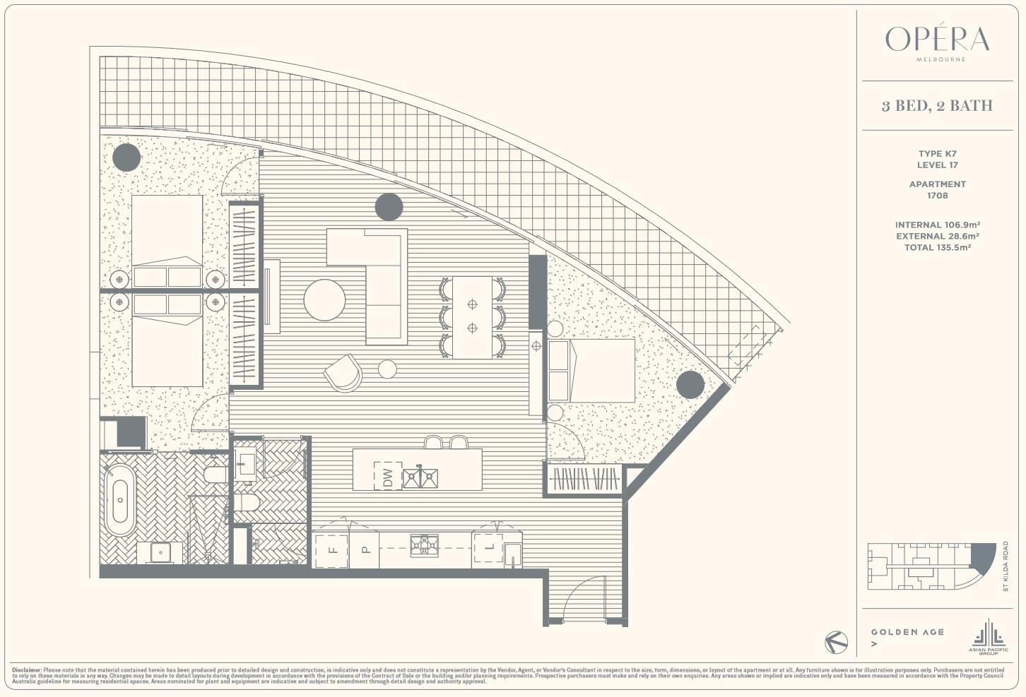 Floor Plan Type K7 - 3Bed2Bath