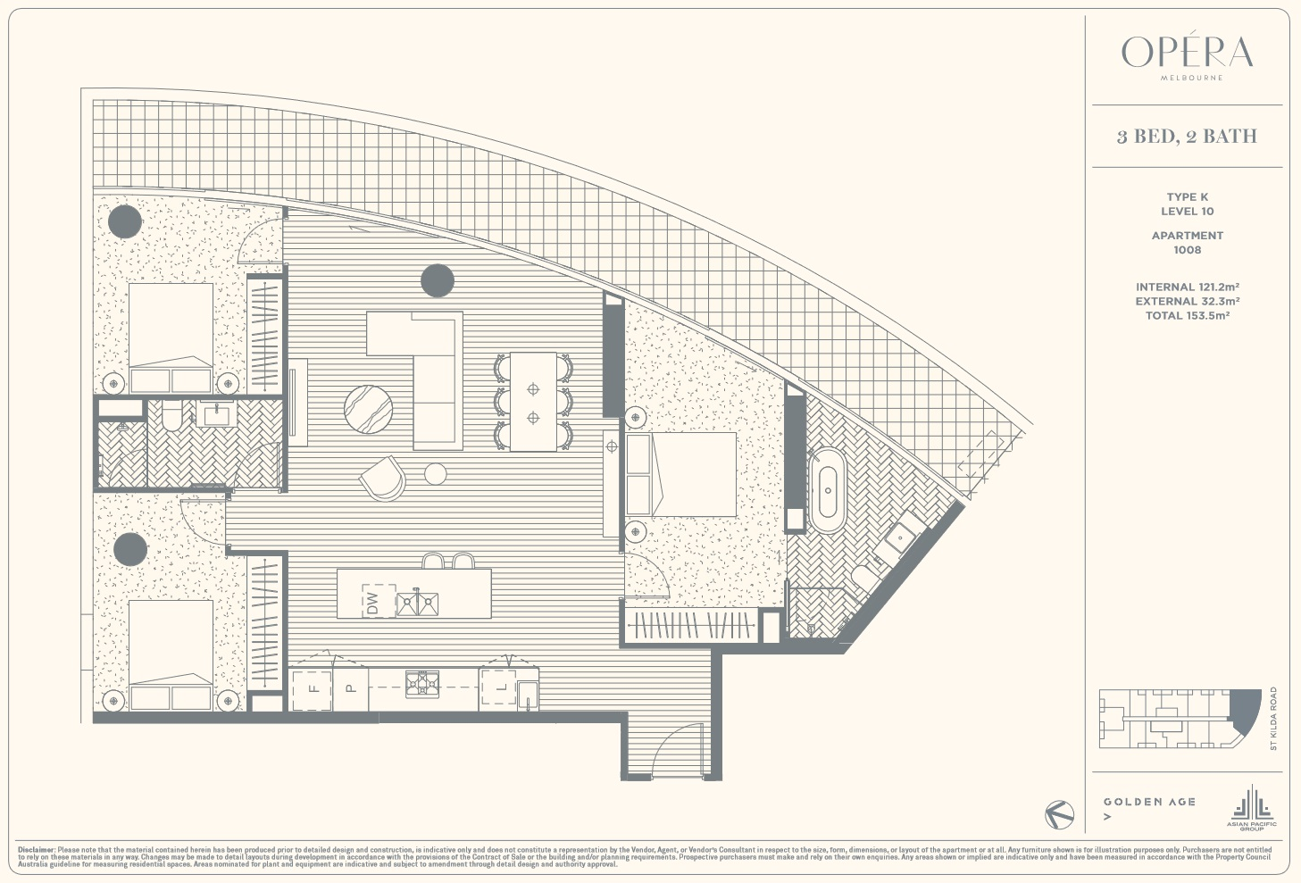Floor Plan Type K - 3Bed2Bath