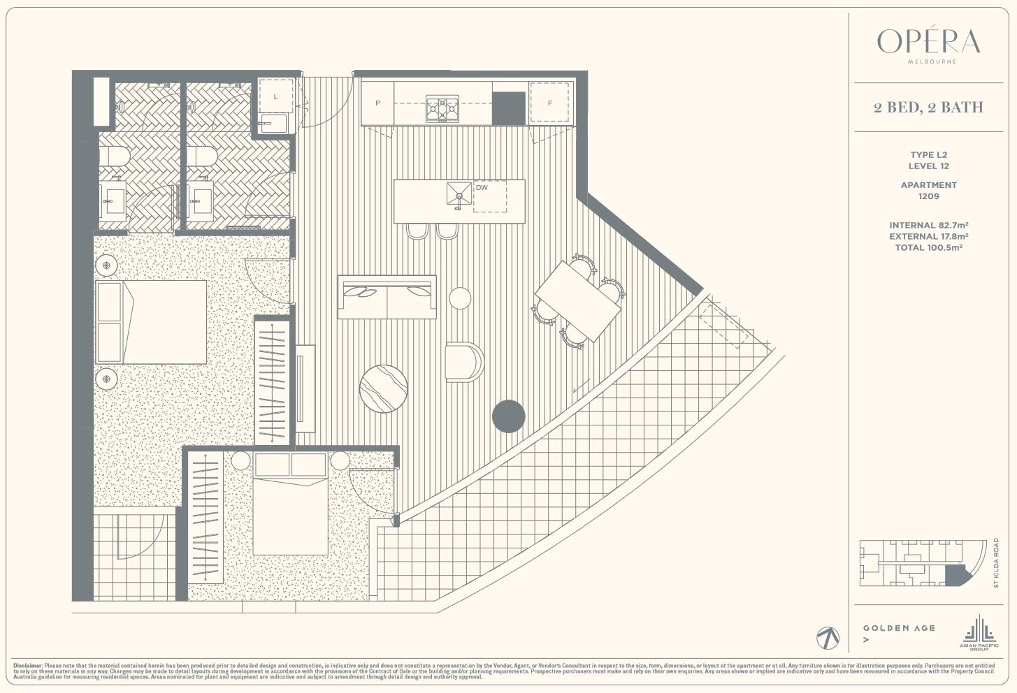 Floor Plan Type L2 - 2Bed2Bath