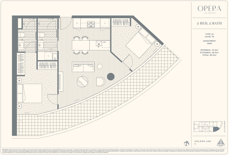 Floor Plan Type L6 - 2Bed2Bath