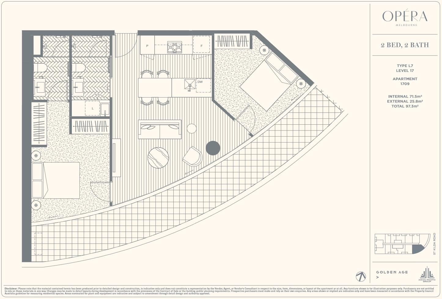 Floor Plan Type L7 - 2Bed2Bath