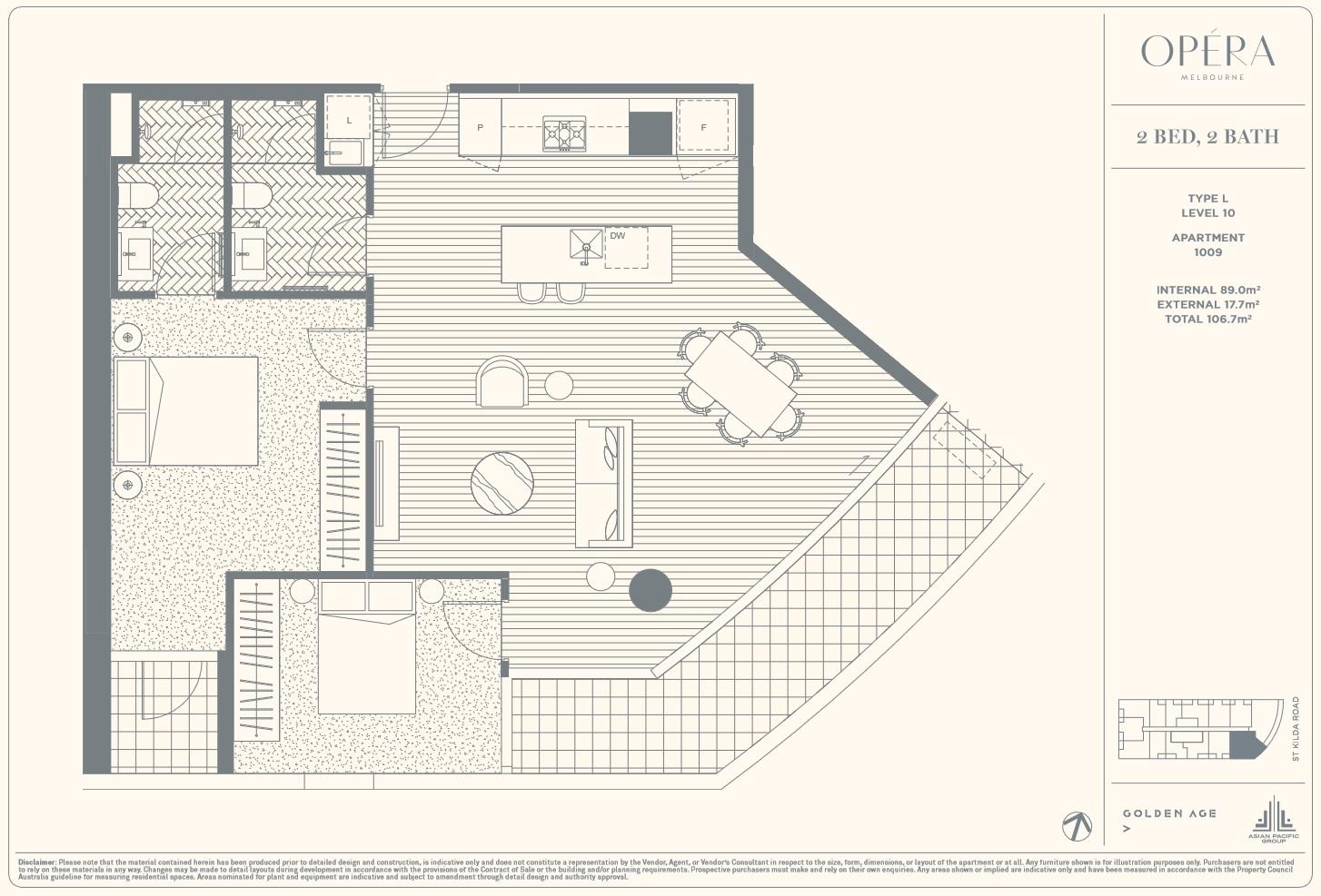 Floor Plan Type L - 2Bed2Bath
