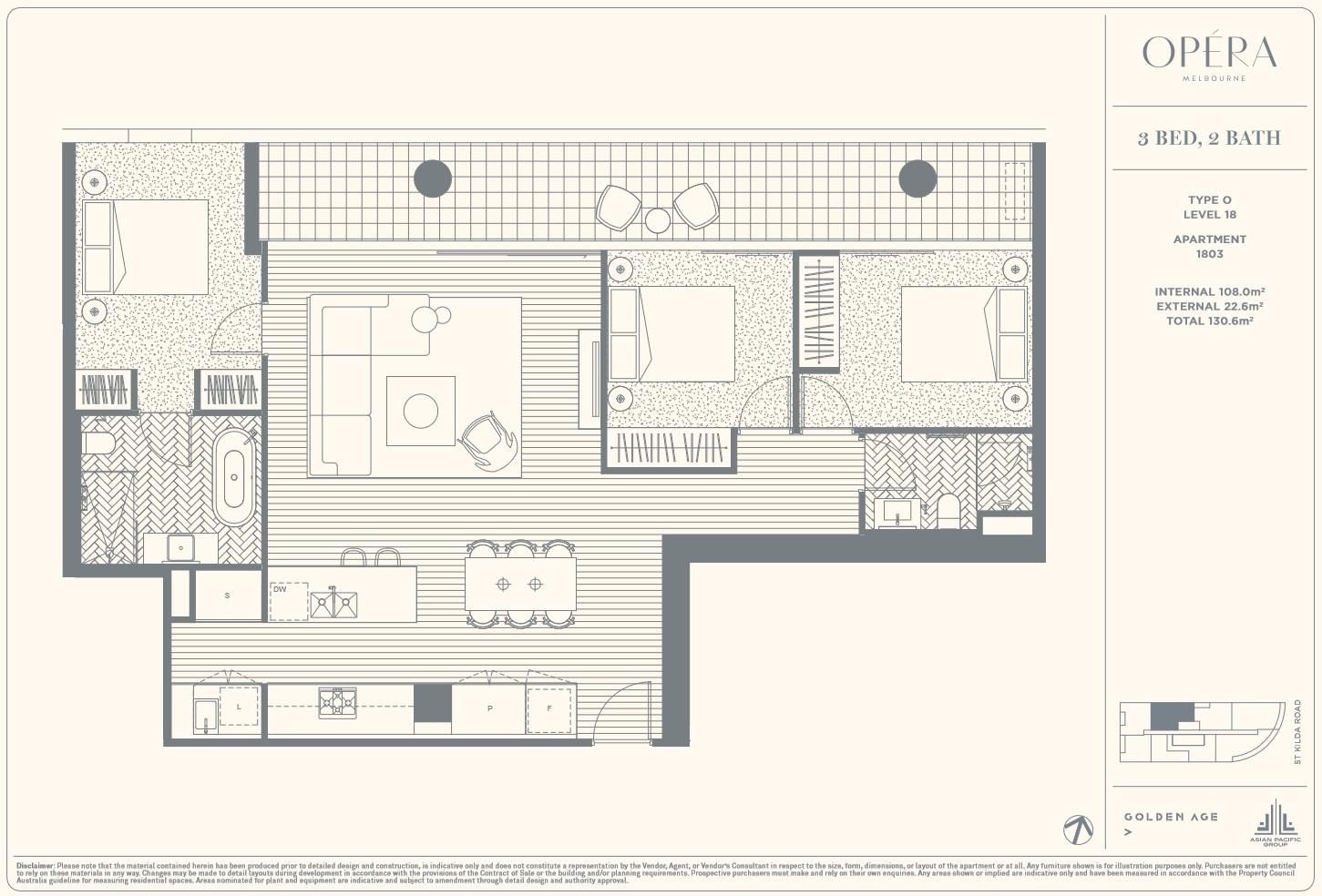 Floor Plan Type O - 3Bed2Bath