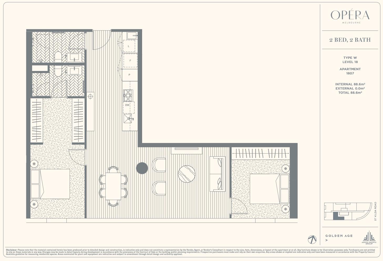Floor Plan Type W - 2Bed2Bath
