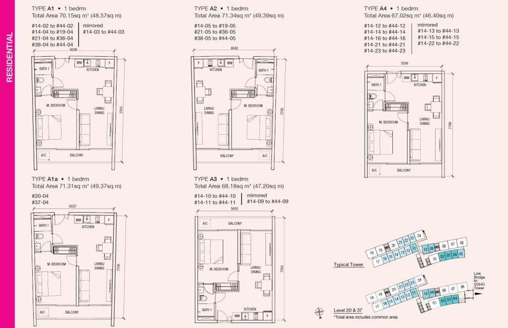 Floorplan - Residential 1 bedroom