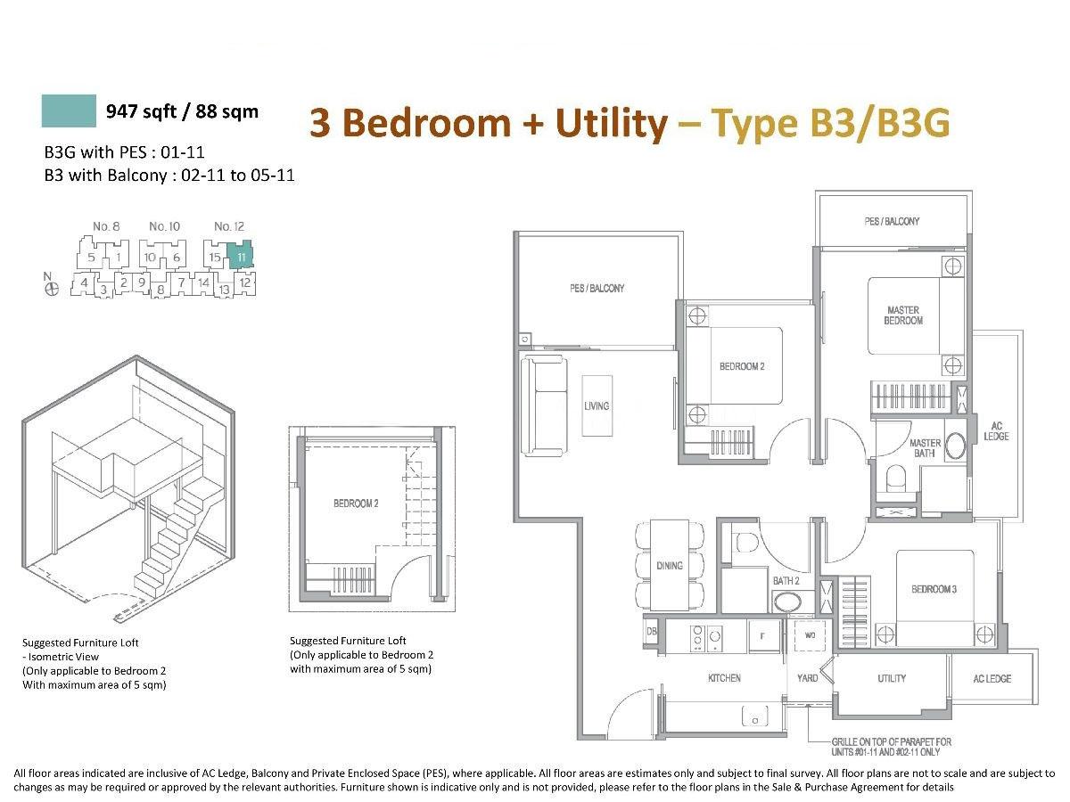 3 Bedroom Utility