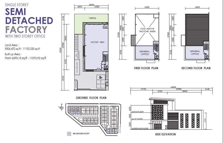 Floorplan Semi-D