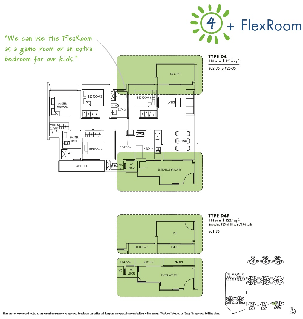 Sol Acres 4 Bedroom + Flexi