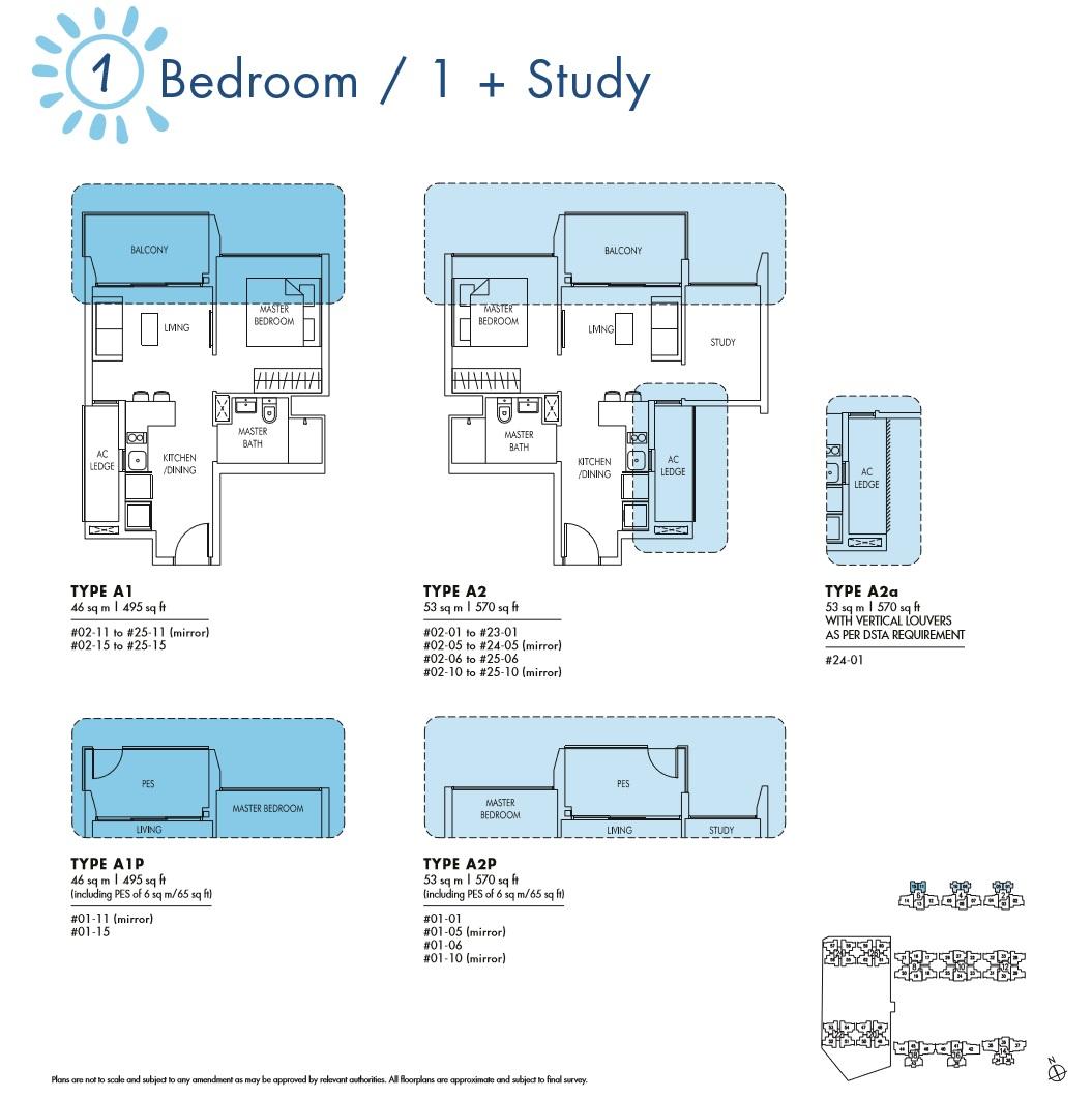 Sol Acres 1 Bedroom & 1 + Study