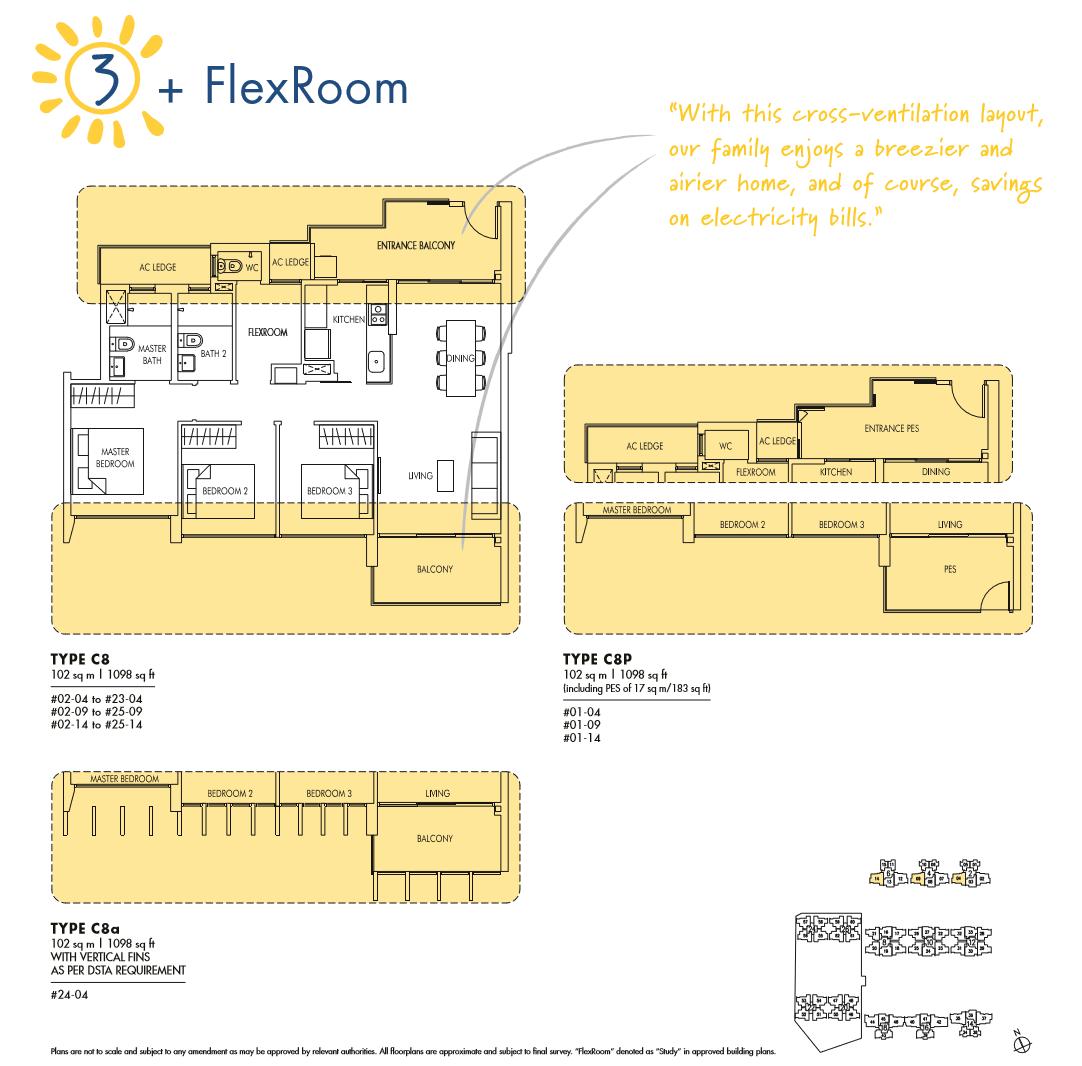 Sol Acres 3 Bedroom + Flexi