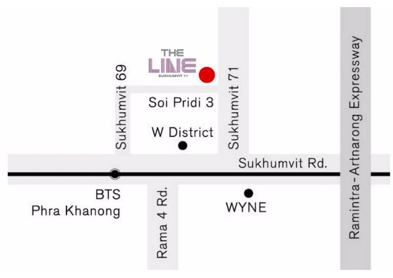 The Line Sukhumit 71 Location