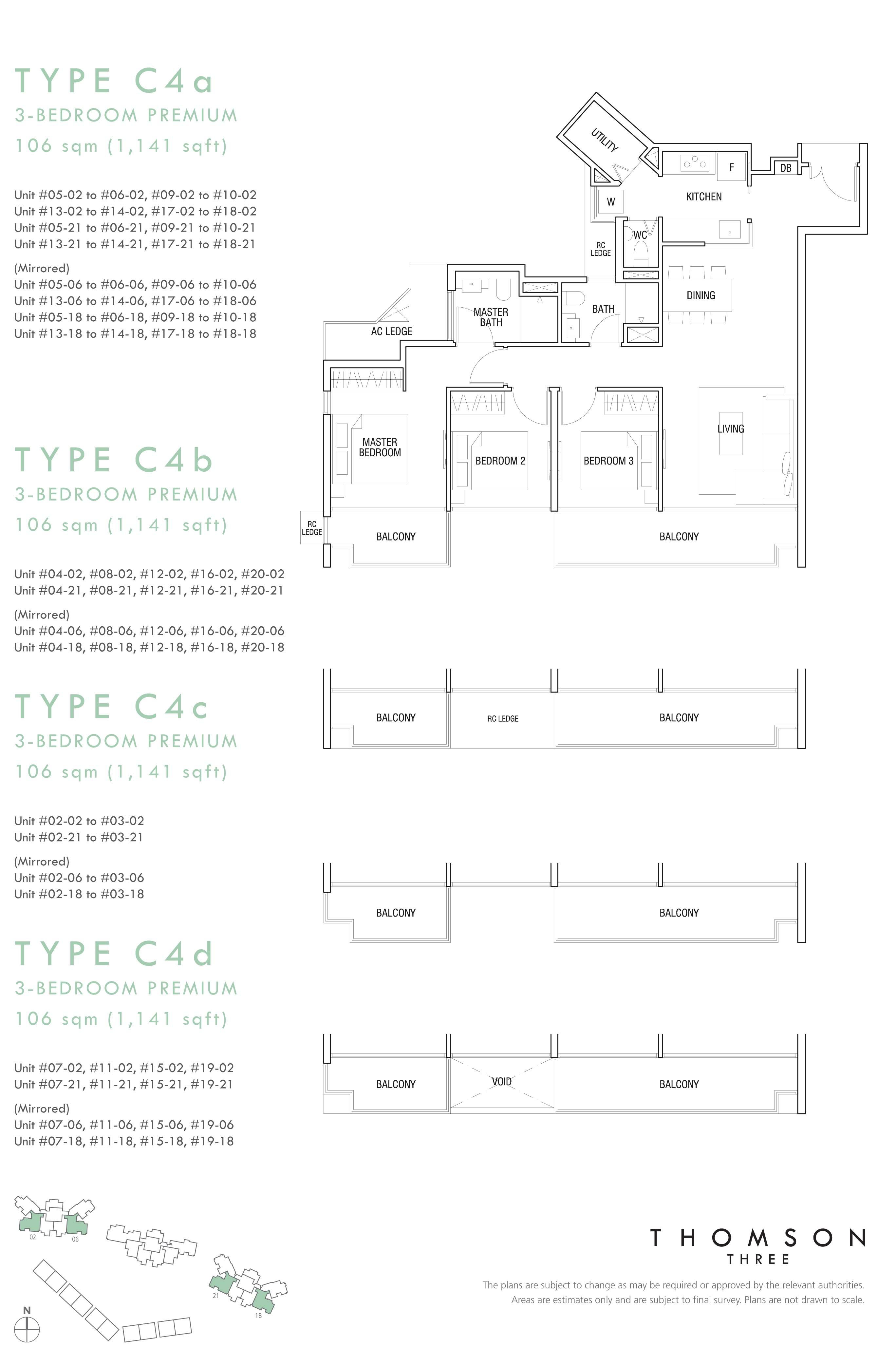 3 Br (Type C4a, C4b, C4c, C4d)