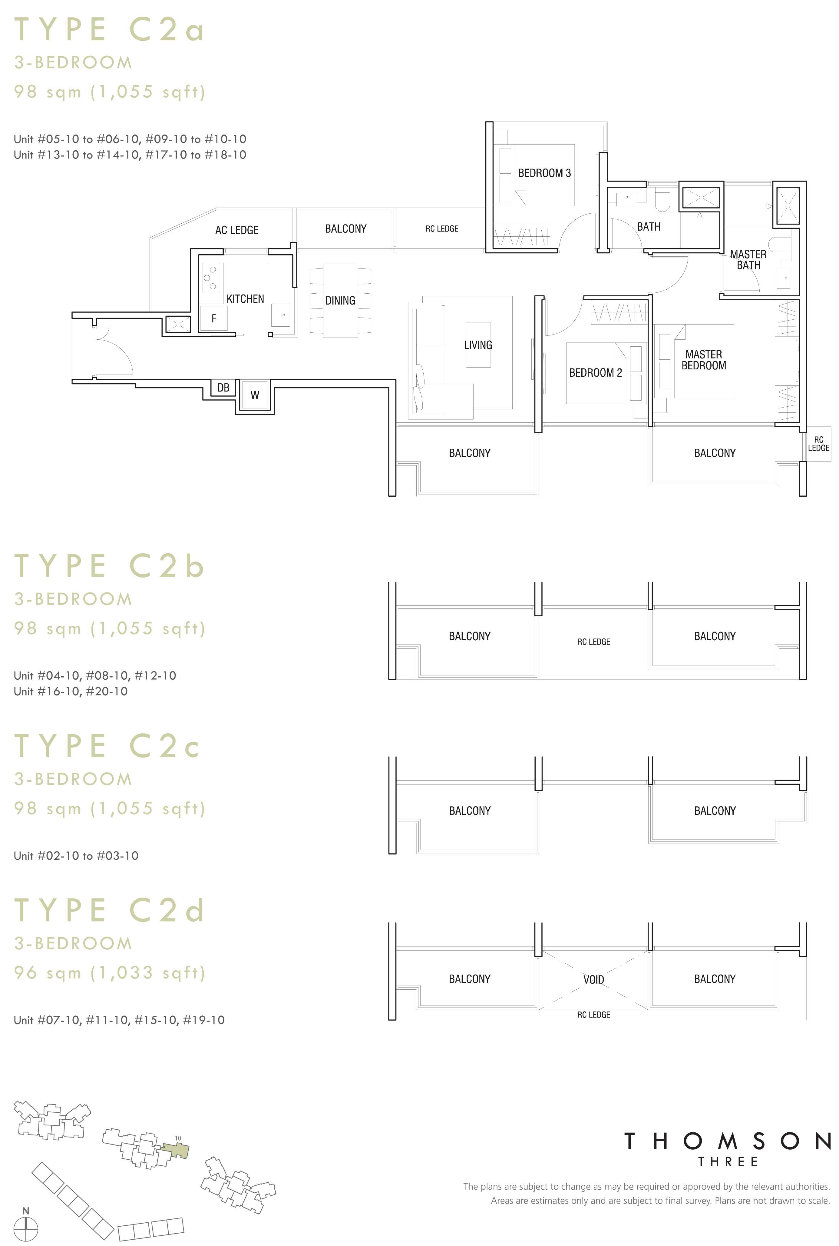 3 Br (Type C2a, C2b, C2c, C2d)