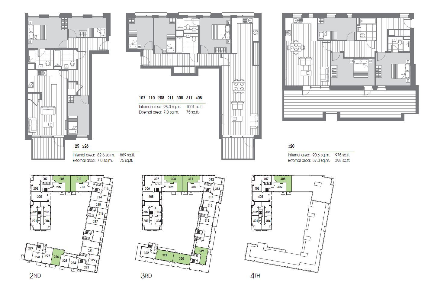 Marina Wharf East London Canary Point - 3 Bedroom Floor Plan