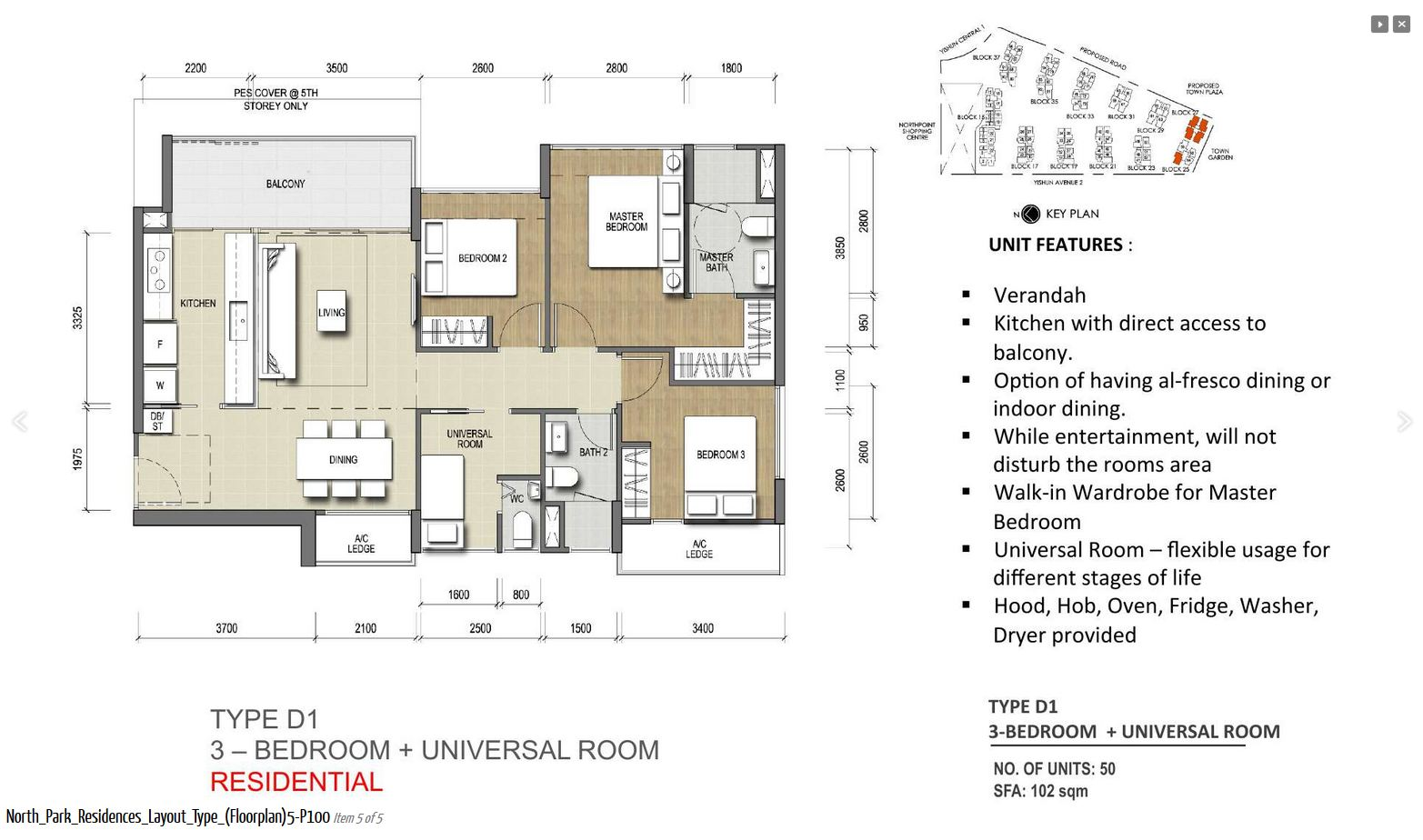 3 Bedroom + Universal Room