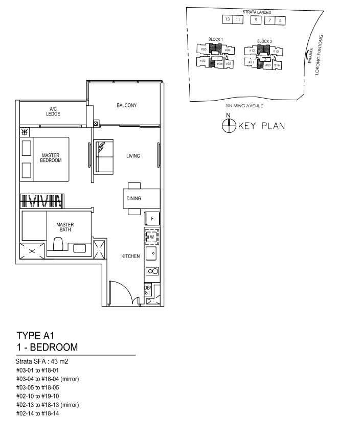 Type A1 - 1 Bedroom