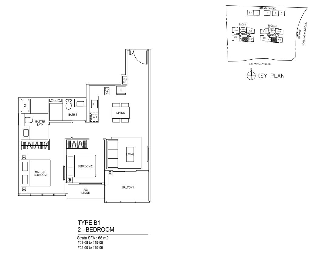 Type B1 - 2 Bedroom