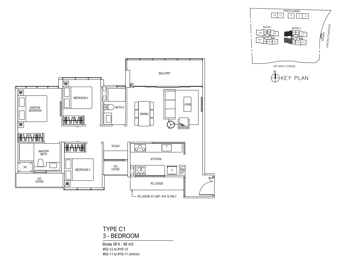 Type C1 - 3 Bedroom