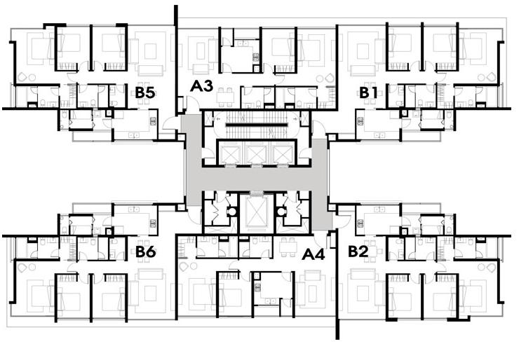 A - 2 Bedroom , B - 3 Bedroom