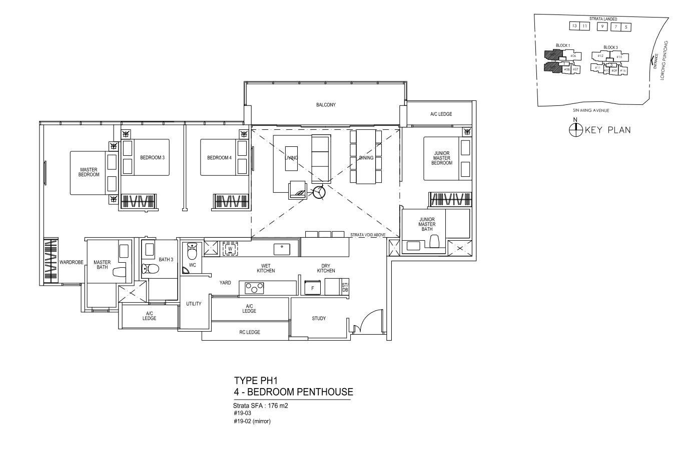 Type PH1 - 4 Bedroom PentHouse