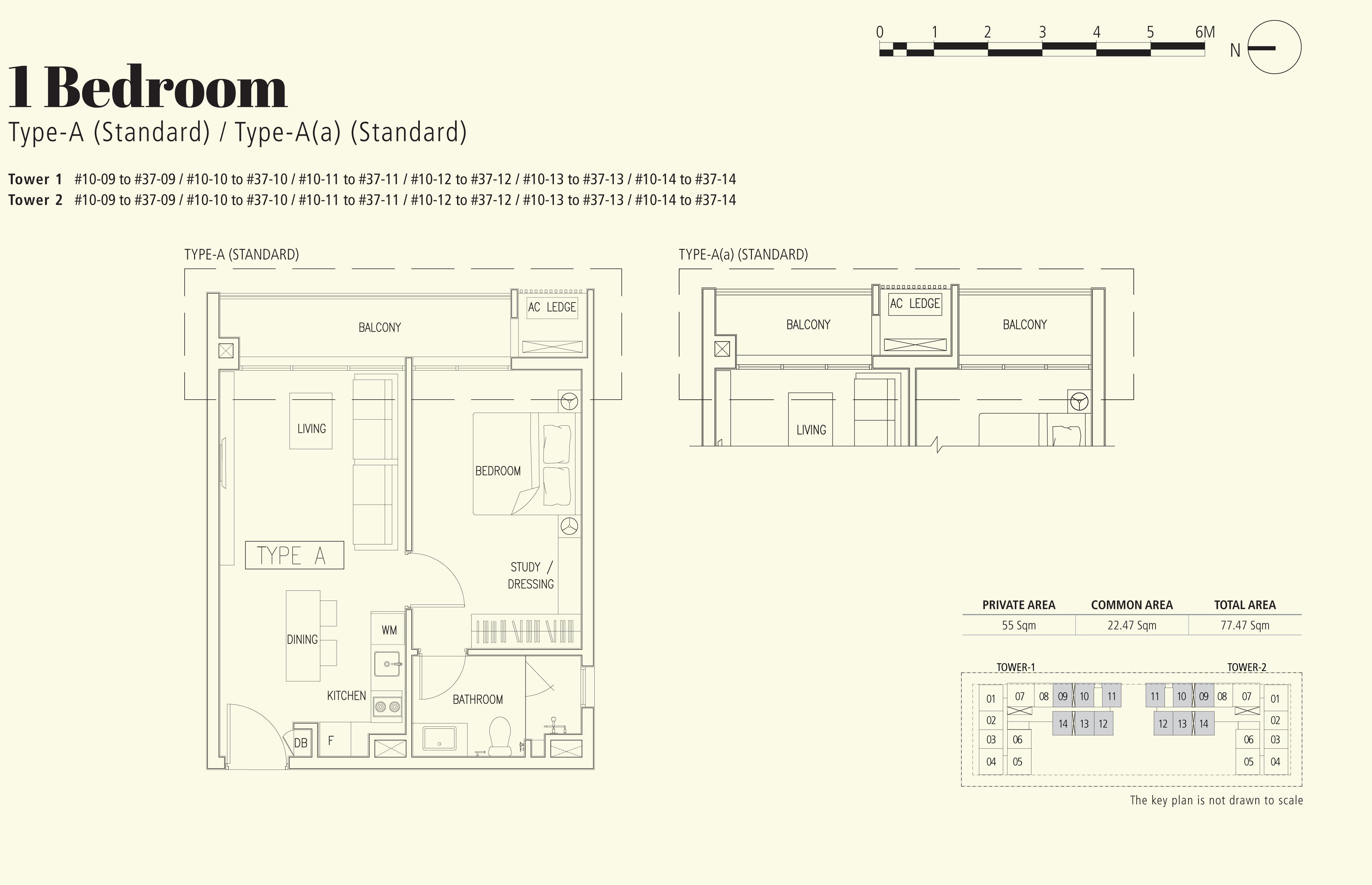 1 Bedroom - Type A