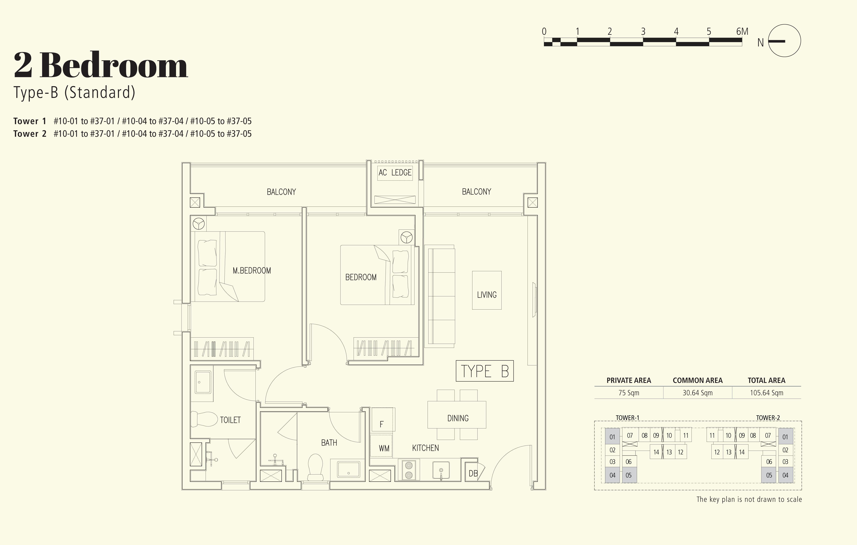 2 Bedroom - Type B (standard)
