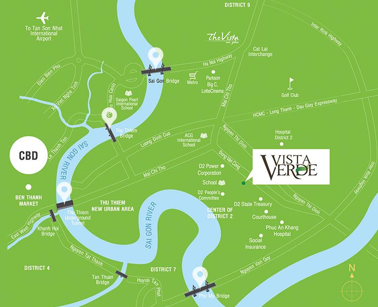 Vista Verde Location Map