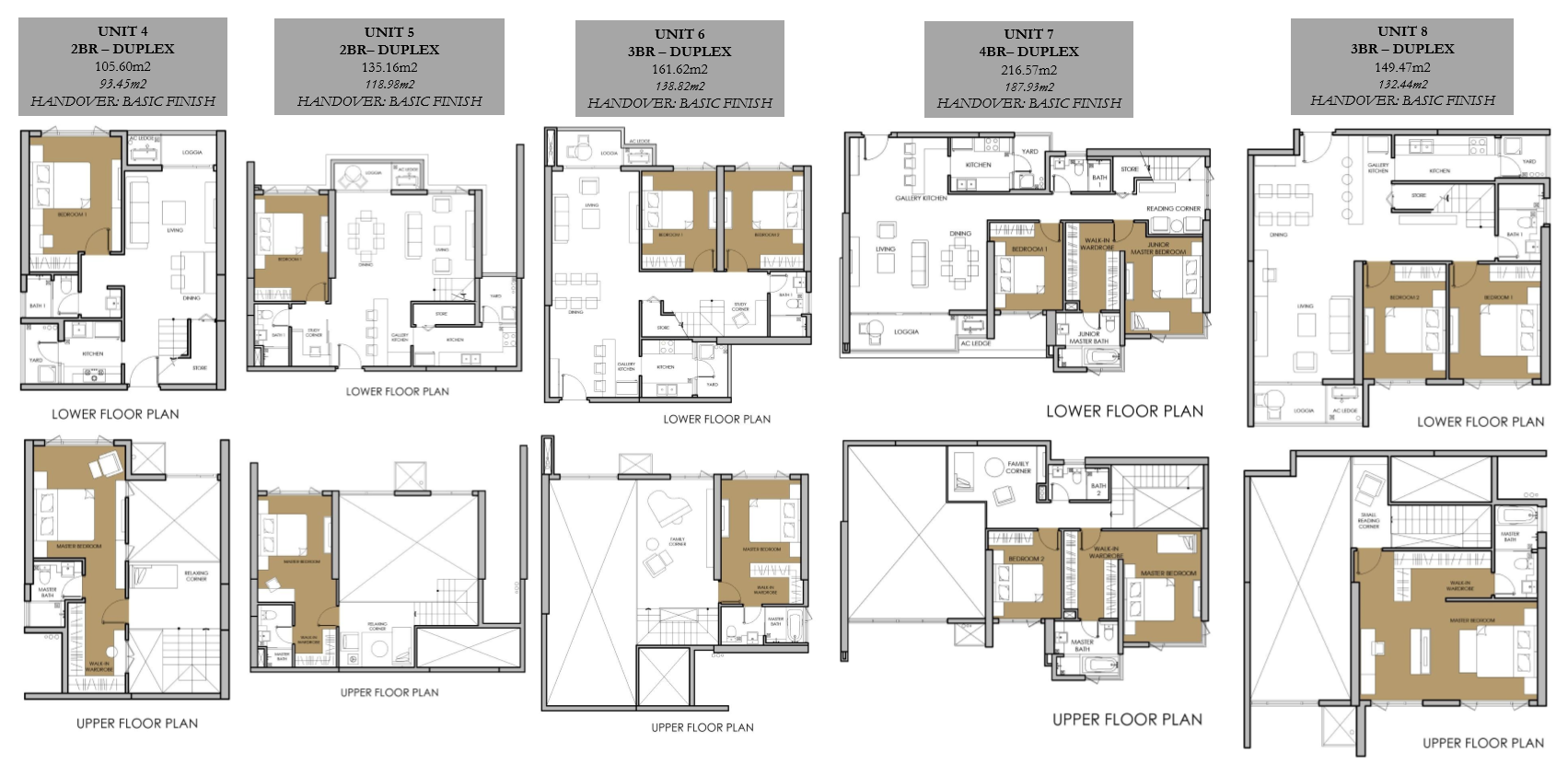 Vista Verde Orchid Tower Duplex Unit Floor Plan