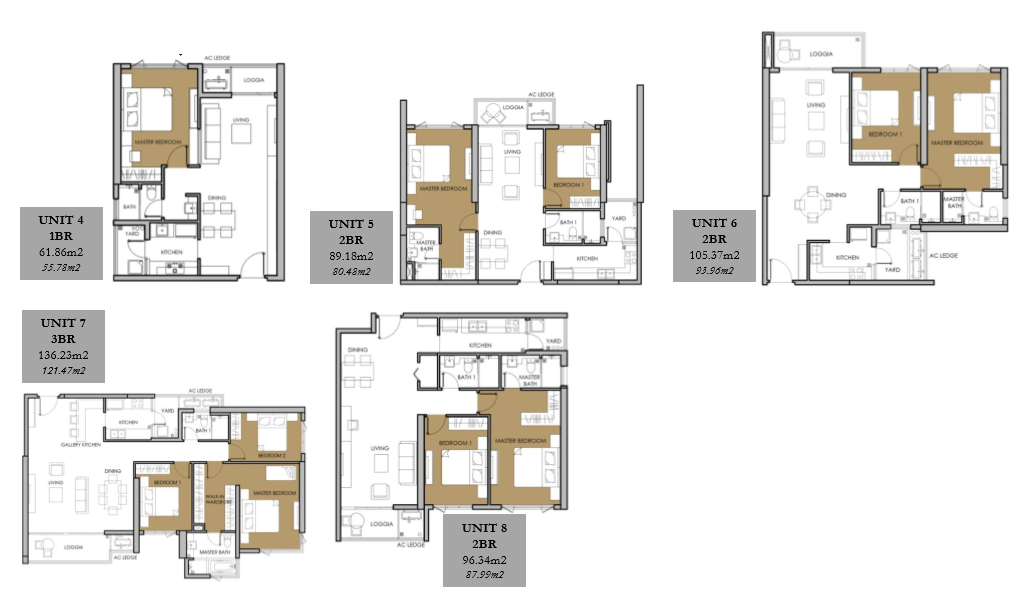 Vista Verde Orchid Tower Typical Unit Floor Plan