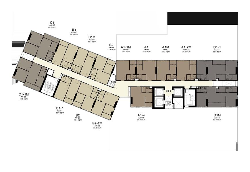 bldg A : 6-10,12-15,17-20,22-25,27-30 Floors