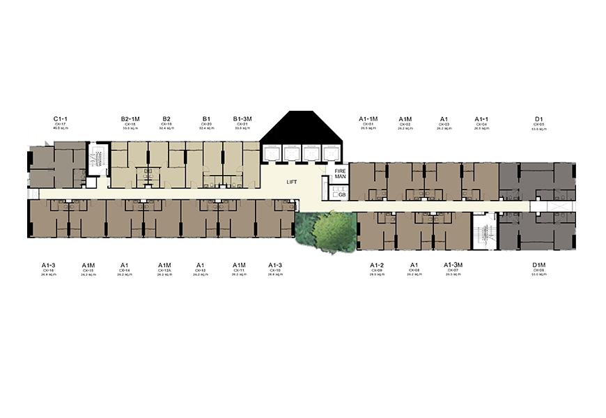 Building C : 11,17,21,28 Floors