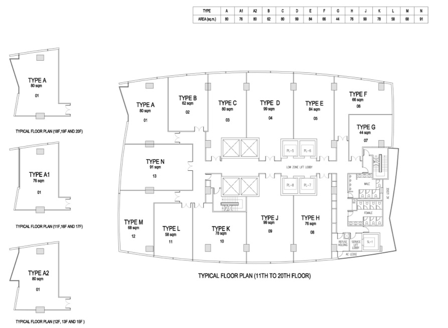 Floor Plan 11 to 20 Offices